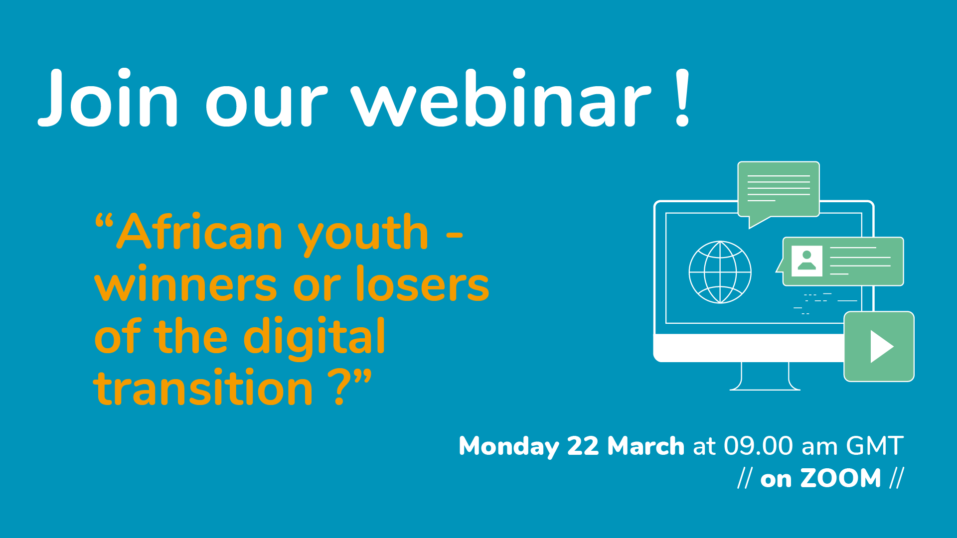 PUBLIC WEBINAR: AFRICAN YOUTH – WINNERS OR LOSERS OF THE DIGITAL TRANSITION?